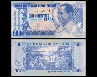Guinea-Bissau, P-12, 500 pesos, 1990