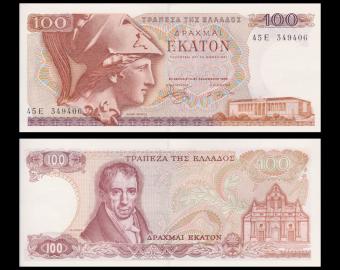 Greece , P-200b, 100 drachmai, 1978