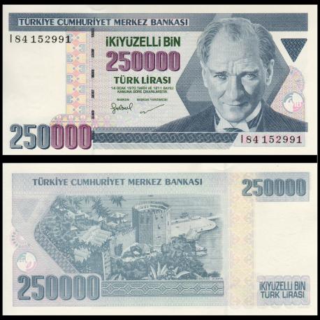Turkey, P-211, 250000 lira, L.1970