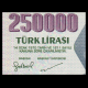 Turkey, P-211, 250000 lira, L.1970