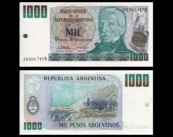 Argentina, P-317b, 1000 pesos argentinos, 1983