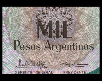 Argentina, P-317b, 1000 pesos argentinos, 1983, PresqueNeuf / a-UNC