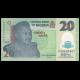 Nigéria, P-34n, 20 naira, Polymère, 2018