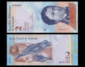 Venezuela, P-088e, 2 bolivares, 2012