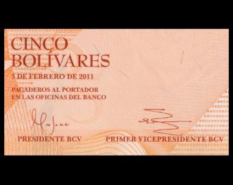 Venezuela, P-089d, 5 bolivares, 2011