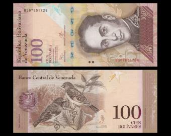 Venezuela, P-093i, 100 bolivares, 2015