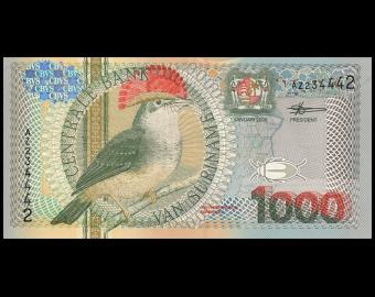 Suriname, P-151, 1000 gulden, 2000