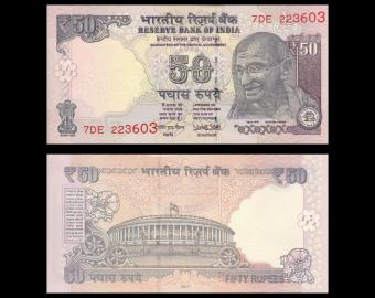 Inde, P-104x, 50 roupies, 2017
