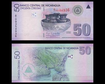 Nicaragua, P-203, 50 cordobas, 2007
