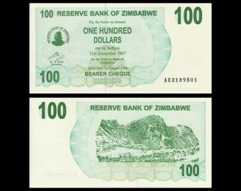 Zimbabwe, P-42, 100 dollars, 2006