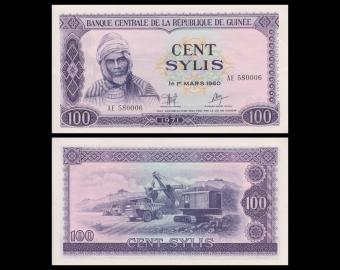 Guinée, P-19, 100 sylis, 1971