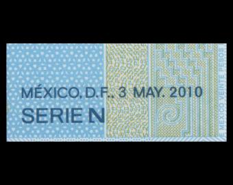 Mexique, P-122hN, 20 pesos, 2010, Polymère, Presque Neuf / A-UNC