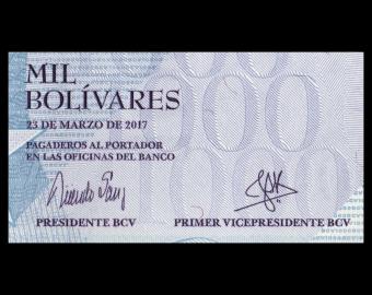Venezuela, P-095b, 1000 bolivares, 2017