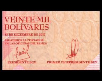 Venezuela, P-099b, 20000 bolivares, 2017
