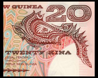 Papouasie Nouvelle Guinée, P-10c, 20 kina, 1998