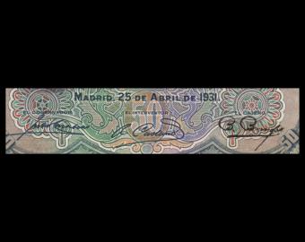 Espagne, P-082, 20 pesetas, 1931, TB / Fine
