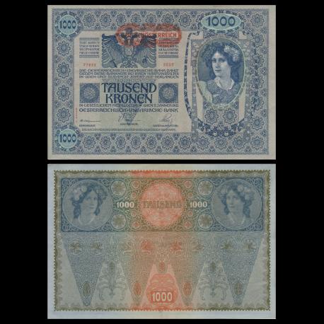 Austria, P-61b, 1000 kronen, 1919, SUP /ExtFine