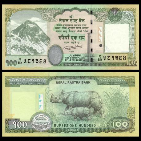 Nepal, P-80, 100 roupies, 2015