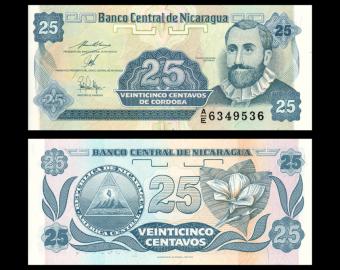 Nicaragua, P-170b, 25 centavos, 1991
