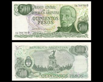 Argentine, P-303c, 500 pesos, 1982