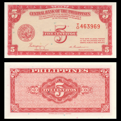 Philippines, P-126, 5 centavos, 1949