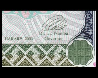 Zimbabwe, P-012b, 1000 dollars, 2003