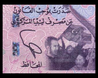 Libya, P-76, 1 dinar, 2013