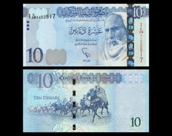 Libye, P-82, 10 dinars, 2015