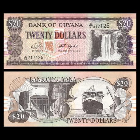 Guyana, P-30g, 20 dollars, 2018