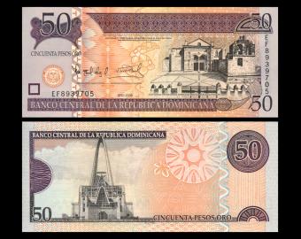 Rép Dominicaine, P-176b, 50 pesos, 2008