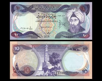 Irak, P-71c, 10 dinars, 1982