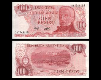 Argentina, P-302b2, 100 pesos, 1976-78