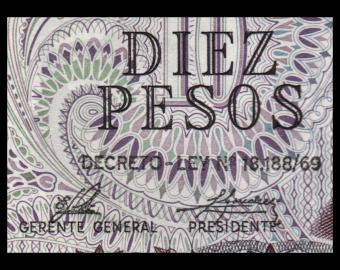 Argentine, P-295d, 10 pesos, 1973-76