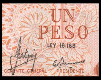 Argentine, P-287a, 1 peso, 1970-73