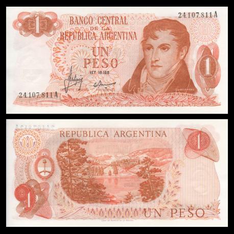Argentina, P-287a, 1 peso, 1970-73