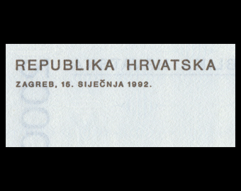 Croatie, P-23, 2000 dinara, 1992