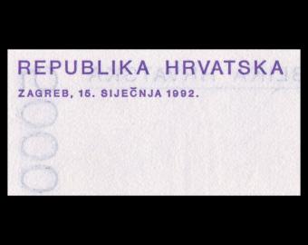 Croatie, P-24, 5000 dinara, 1992