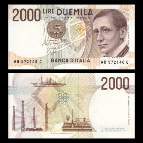 Italie, P-115, 2000 lire, 1990