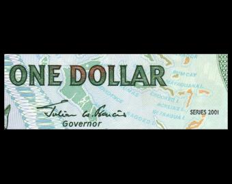Bahamas, p-69, 1 dollar, 2001