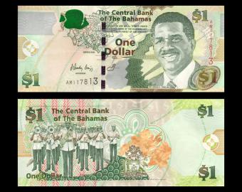 Bahamas, P-71, 1 dollar, 2008