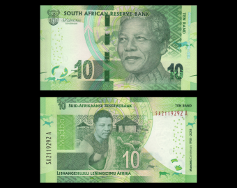 Afrique-du-Sud, P-143, 10 rand, 2018
