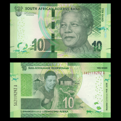 South-Africa, P-143, 10 rand, 2018