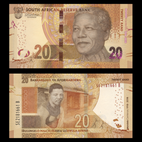 South-Africa, P-144, 20 rand, 2018
