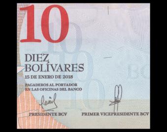 Venezuela, P-103a, 10 bolívares soberanos, 2018