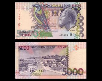 SÃO TOMÉ E PRÍNCIPE, P-65a, 5.000 dobras, 1996