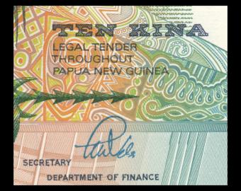 Papouasie Nouvelle Guinée, P-09b, 10 kina, 1989