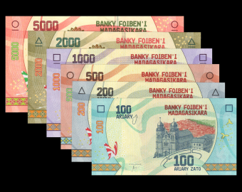 Madagascar, serie 6 banknotes, 6800 ariary, 2017