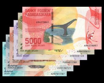 Madagascar, série 6 billets, 6800 ariary, 2017