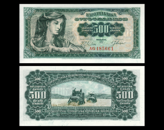 Yugoslavia, P-074, 500 dinara, 1963