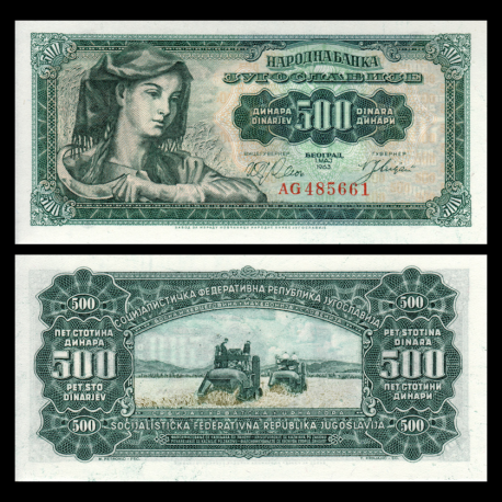 Yougoslavie, P-074, 500 dinars, 1963